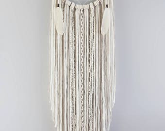 ethereal boho xl cream dream catcher extra large dream catcher 12 bohemain dreamcatcher - Home Decor Uk