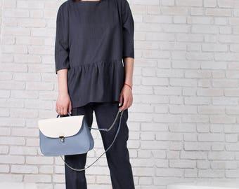 Leather Handbag / White Saffiano / Leather Tote Bag / Leather Bags women / Leather shoulder bag / SHOULDER BAG made of italian leather/