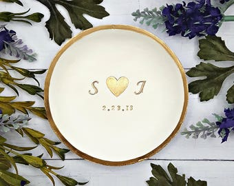 Ring Dish Personalized jewelry dish, Engagement ring dish personalized, Ring dish engagement ring holder, Engagement ring dish, Catchall