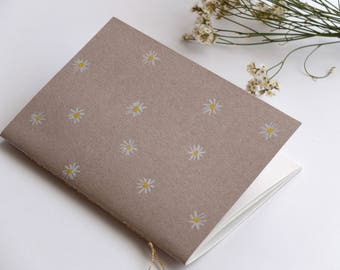 Watercolor daisies notebook