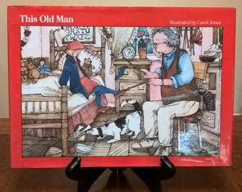 This Old Man - Carol Jones - First Edition Children's Books, Kids Books, Picture Books, Number Book, Rhymes, Die-Cut Book