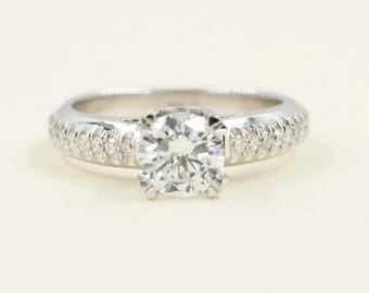 Diamond CZ engagement ring.