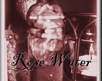 ROSE WATER | 4 oz. Glass Bottle | Love | Spell | the Craft | Handcrafted | Wicca | Witch | Pagan | Magick | Hoodoo