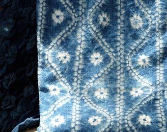 002 - Natural Hand Dyed Indigo Shibori Fabrics by Bio Method