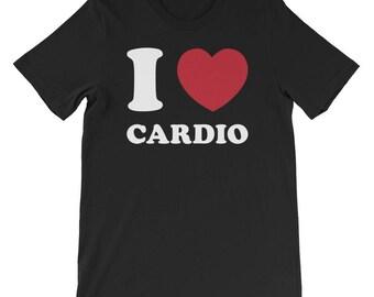 Cardio T Shirt, Fitness Shirt, Workout Shirt, Exercise Shirt, Fitness Shirt, Yoga Shirt, Gym Shirt | I Love Cardio Shirt