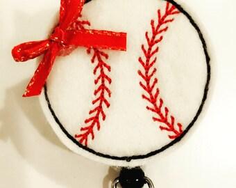 Baseball Badge Reel