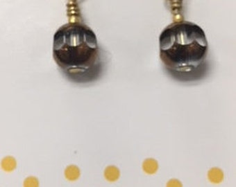 Silver Plated glass bead earrings