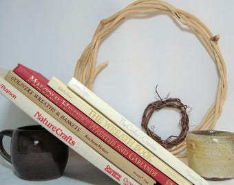 Wreaths from Naturals, Crafters Garden, 5 Books Home Decor with Natures Harvest