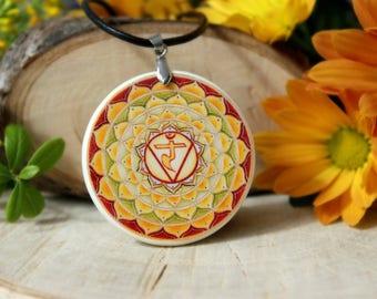 Manipura Chakra Polymer Clay Necklace