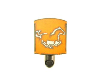 Running Horse Rusty Metal Night Light