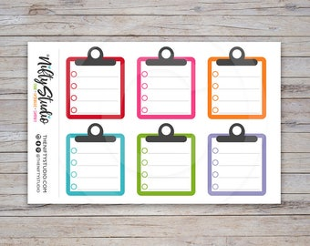 Clipboard Stickers | Planner Stickers | The Nifty Studio [110]