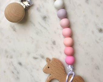 Food Grade Silicone Baby Teether Pacifier Clip