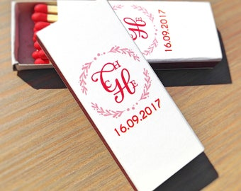 Custom Matchboxes Personalized Matches Custom Matchbooks Wedding Matchboxes Wedding Matches Custom