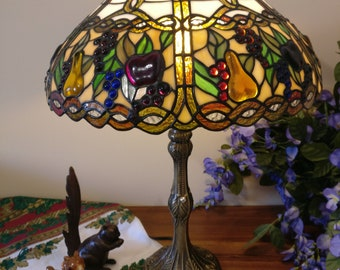 "15"" Tiffany lamp Fruit design (SE2-FRUIT)"