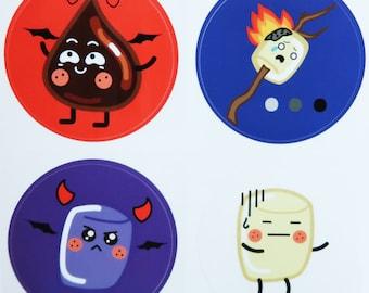 Roasted Marshmallow (Round Stickers)