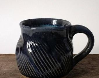 Small Handmade Pottery Mug, Tea Mug, Unique Gift, 8 oz Mug, Pottery Mug, Handmade Mug, Rustic Pottery, Ceramic Mug Earthy Pottery Mug