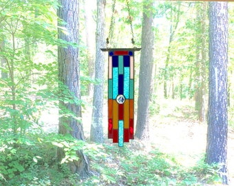 NEW Awesome stained glass art glass suncatcher stained glass panel gift decorative art