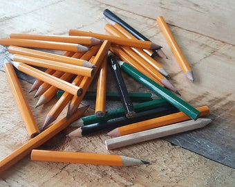 Bulk Lot of Assorted New and Used Mini Pencils! Golf Pencils!