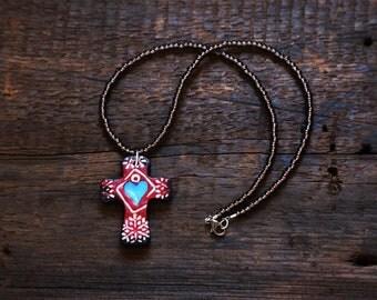Boho Style Cross Necklace