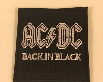 Acdc rock n roll classic rock embroidered iron on sew on patch