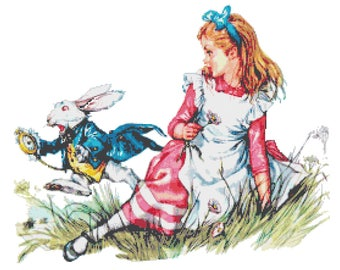 Alice in wonderland - 276 x 218 stitches - Cross Stitch Pattern Pdf - INSTANT Download - B1393