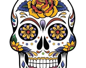Sugar Skull Cross Stitch Pattern Pdf skull pattern patron de point de croix - 138 x 199 stitches -  INSTANT Download - B684
