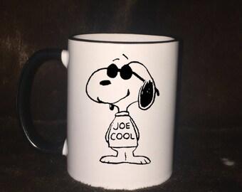 Snoopy Joe Cool mug, gift item, coffee mug, Snoopy coffee mug, peanuts gang, coffee lovers, dog lovers