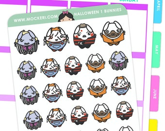 Halloween Mix 1 Bunnies / Halloween Planner Stickers