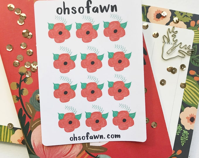 Christmas Flower Stickers