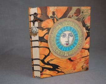 Celestial Sketchbook ~ Coptic binding ~ ONE OF A KIND
