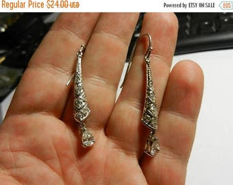 Summer Sale Nice 925 Sterling Silver CZ  Earrings Classy