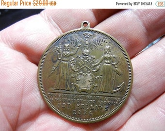 Summer Sale Vintage 1834 Odd Fellows Medal