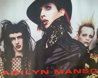 Marilyn Manson Band Shot Rare Vintage Poster