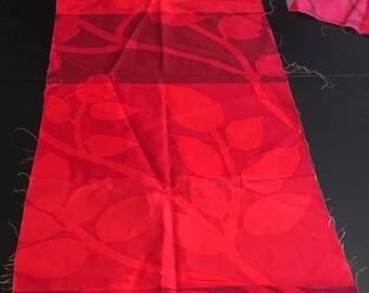 "Marimekko ""Madison WI"" red 100% cotton fabric, remnant pack"