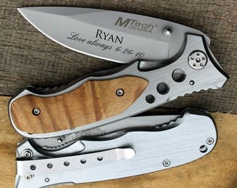Personalized knife, Custom knife, Engraved Pocket Knife/Laser Engraved, personalized knife, wedding gift, anniversary gift, groomsman gift