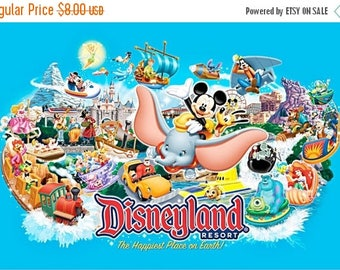 "Disneyland Counted Cross Stitch Disneyland pattern needlepoint needlework Kräiz Stitch korss - 35.43"" x 23.43"" - L844"