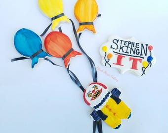 Decorated Stephen King's IT cookies for horror fans