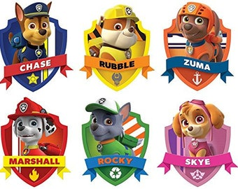 12-Paw Patrol Cup CakeToppers/ Food Picks