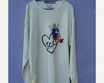 1000 ON SALE Vintage Jean Charles de Castelbajac sport graphic pop art sewn shirt