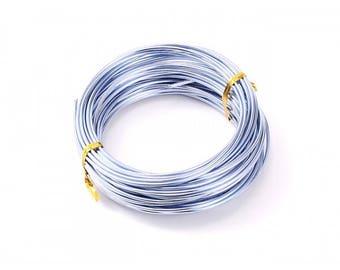 10 m 2mm steel blue aluminum wire