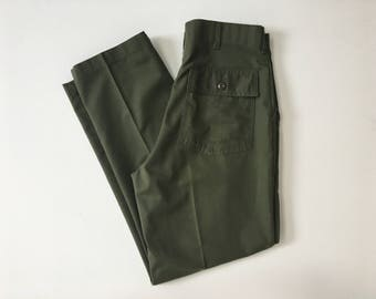 Vintage Clifford Industries Army Cotton Blend Patch Pocket Pants 34x31