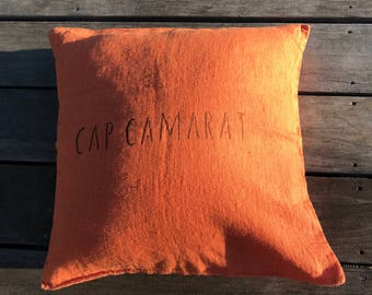 Cape Camarat washed linen pillow cover