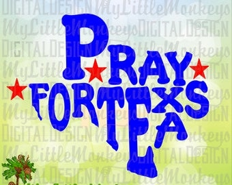 Pray for Texas SVG, Texas Word Art SVG, Hurricane Harvey Fundraiser, Commercial Use SVG ~ Cut File, Clipart svg, dxf, eps, png