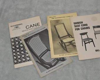 Four Cane Hand Books For Weaver