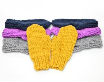 Mitten Pattern // Women's Mittens, Men's Mittens, Knitting Pattern, Winter Gloves, Knit Mitten Pattern, Magic Loop Mittens, PDF Warm Mittens