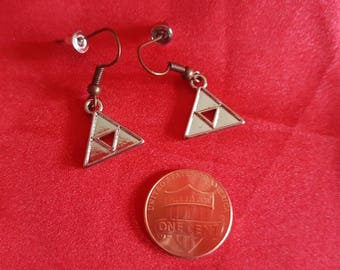 Zelda Triforce earrings. Nintendo charm jewelry game lover gift. Ocarina of Time. Breath of the Wild