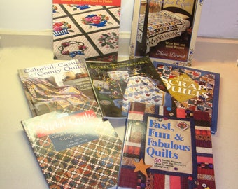 Quilt book lot-quilt book collection-quilting book-quilter book-baltimore album quilts-bed and breakfast quilts-scrap quilts-floral quilts
