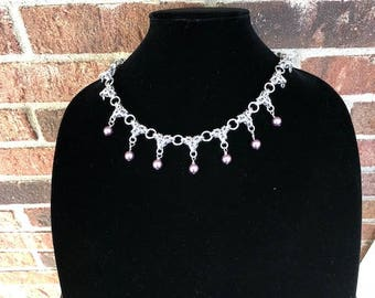 Byzantine Spike Chainmaille Necklace
