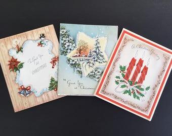 Vintage Christmas Greeting Cards, whitman, american Greetings ( 3 )