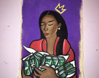 Gimme the loot acrylic painting